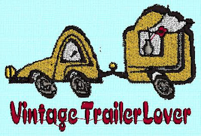 Here I added some lettering to the camper image.