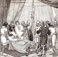 Guifré el Pilós va morir l'11 d'agost de l'any 897 a la Vall d'Ora