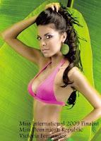 Miss International 2009 Top15 Finalist- Miss Dominican Republic Victoria Fernández