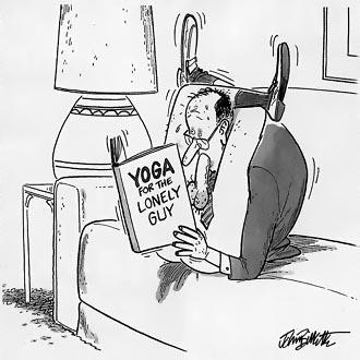 yoga voor de eenzame man