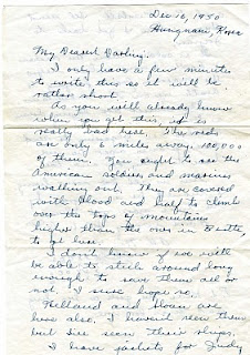 Page 2 Daddy's letter December 16, 1950