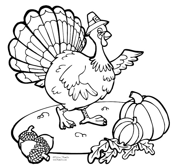 Thanksgiving Coloring Pages Of A Turkey To Color