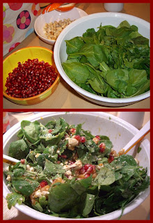 pomegranate salad (onemorehandbag)
