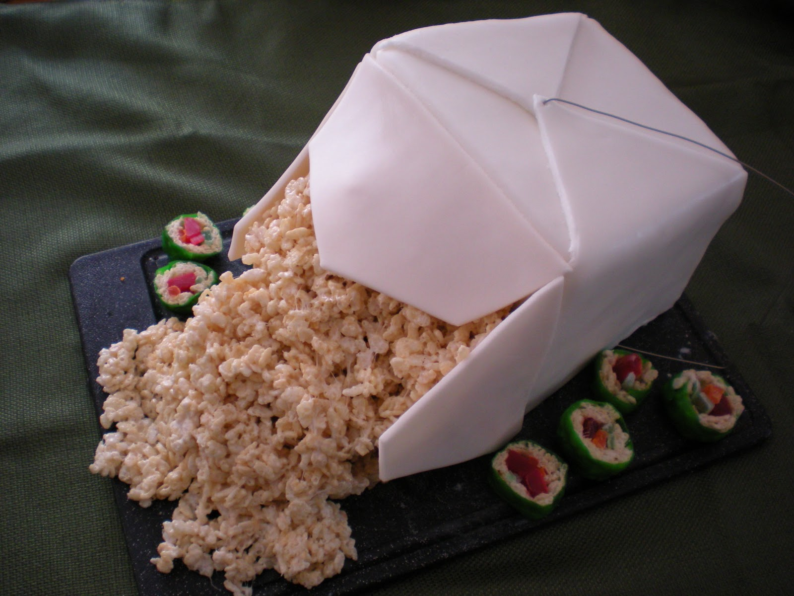 how to make a giant chinese take out box