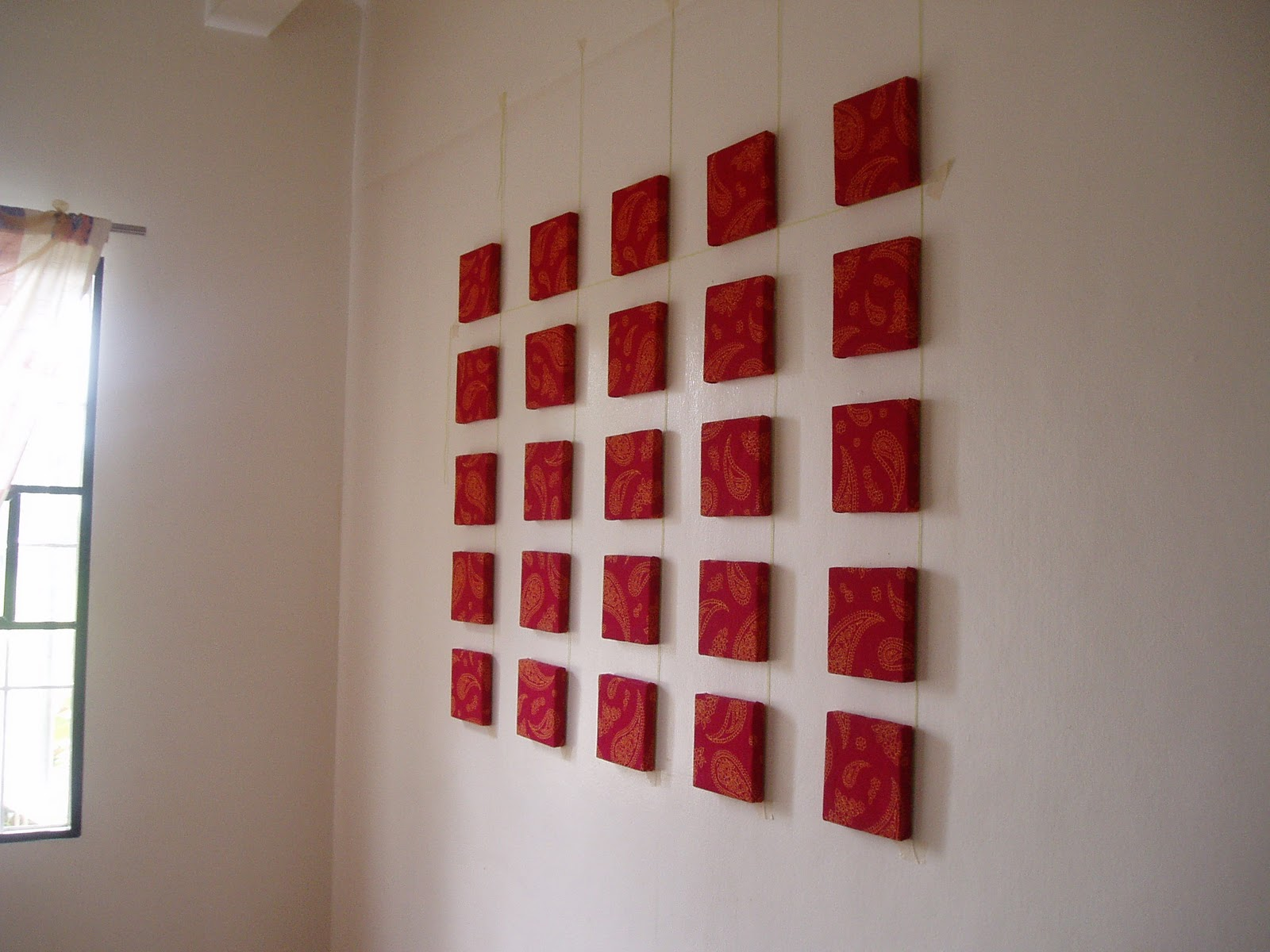 Sanguine fiasco red wall decor for Red wall art