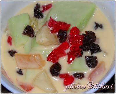 puding buah buahan resepi asal mak cik jana bahan untuk puding 1 1 4