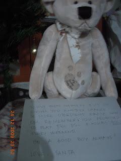Santa's gift, Mr. Bear