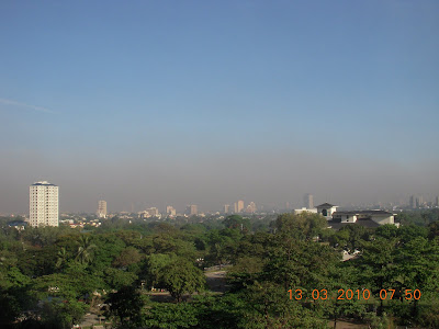 air pollution, makati, philippines