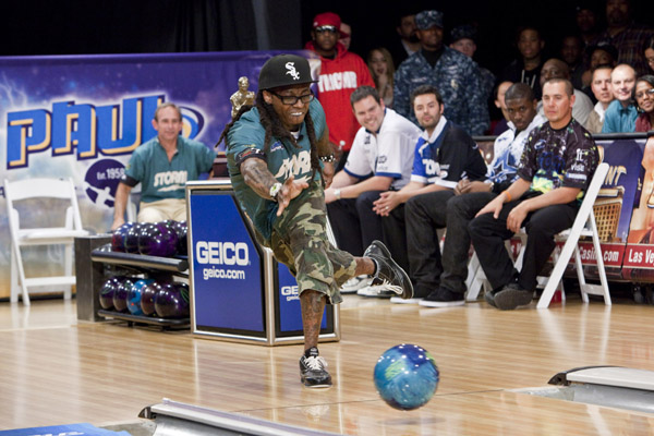 Lil Wayne get's his Bowl on at the PBA Chris Paul Celebrity Bowling