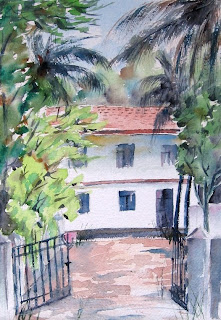 House at Calangutte - Watercolor
