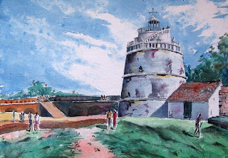 fort Aguada - watercolor