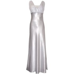 Chiffon Dress on Chayoo Wore A Crystal White Satin Chiffon Full Length  Giving Her A