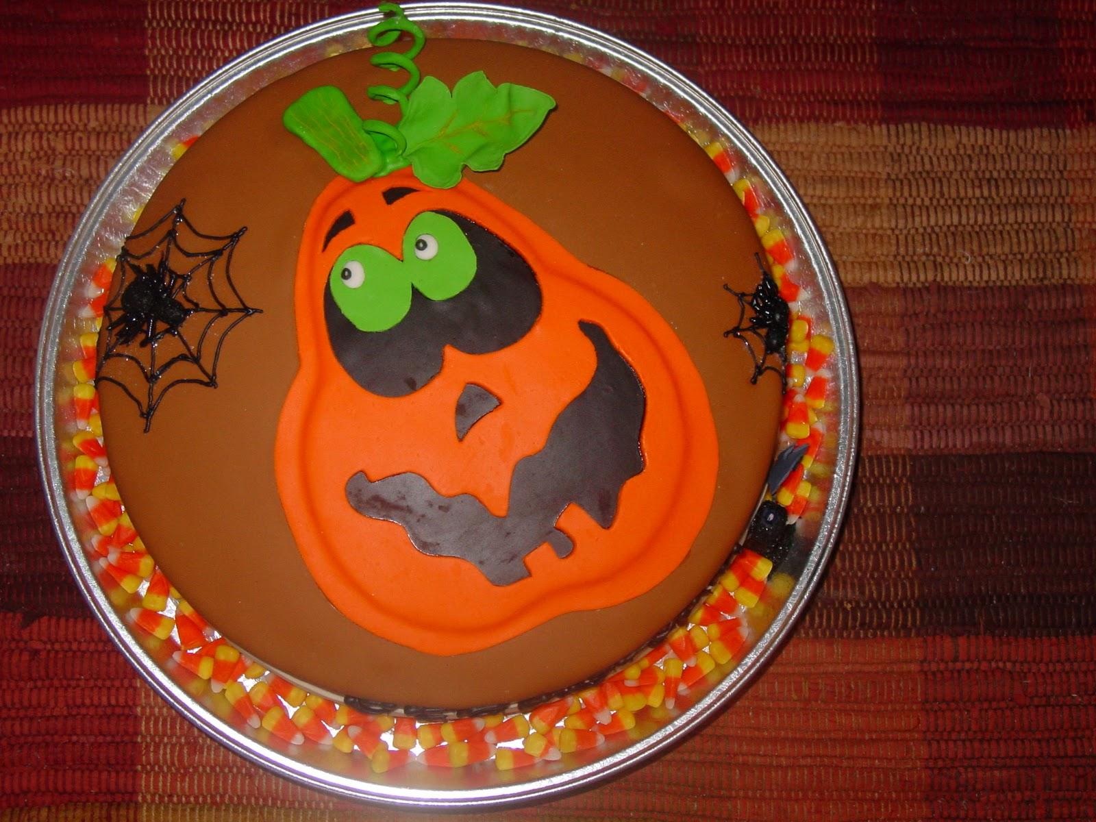 Slice o Heaven Halloween Birthday Cake