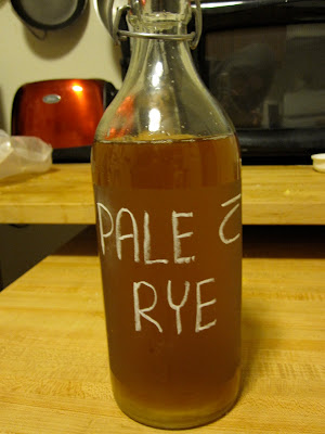 pale ale with rye reusable bottle label