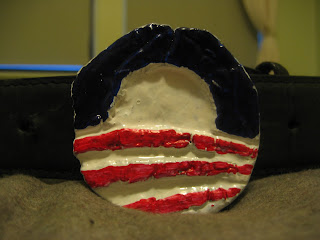 Obama belt buckle DIY cast with lost foam
