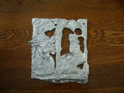 annunciation in relief zinc