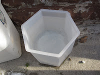 hexagonal mold for ice candles