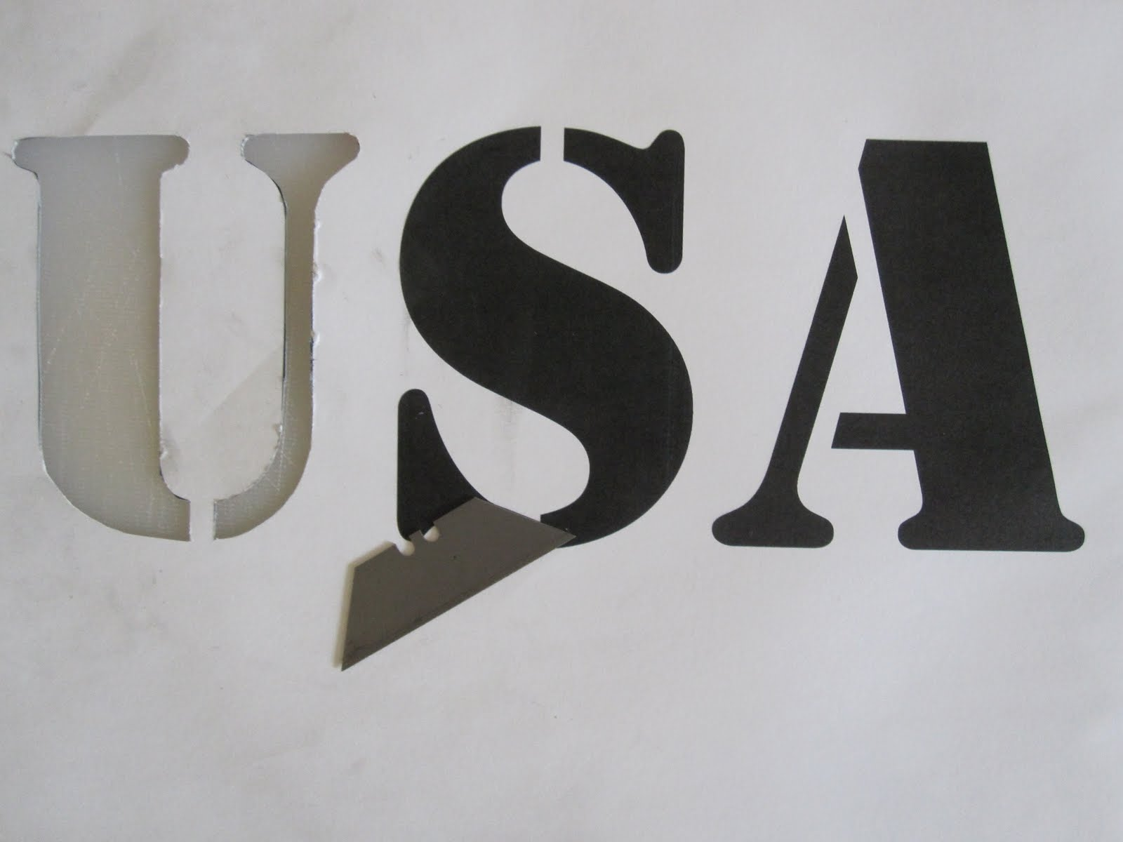 Mike Is Bored Usa Diy T Shirt Printing Sticker Stencil