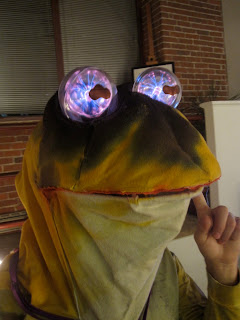 hypnotoad costume with plasma ball eyes