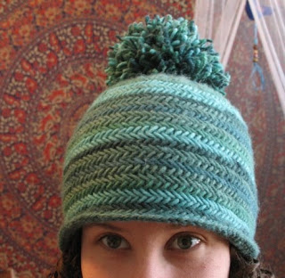 Herringbone Stitch Knit Hat Pattern : bohoknits: Herringbone Hat
