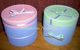 Cajas decoradas con cintas