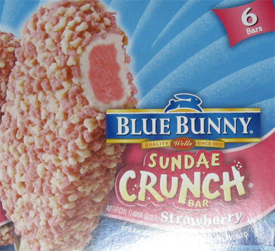 Blue Bunny Strawberry Sundae Crunch Bar
