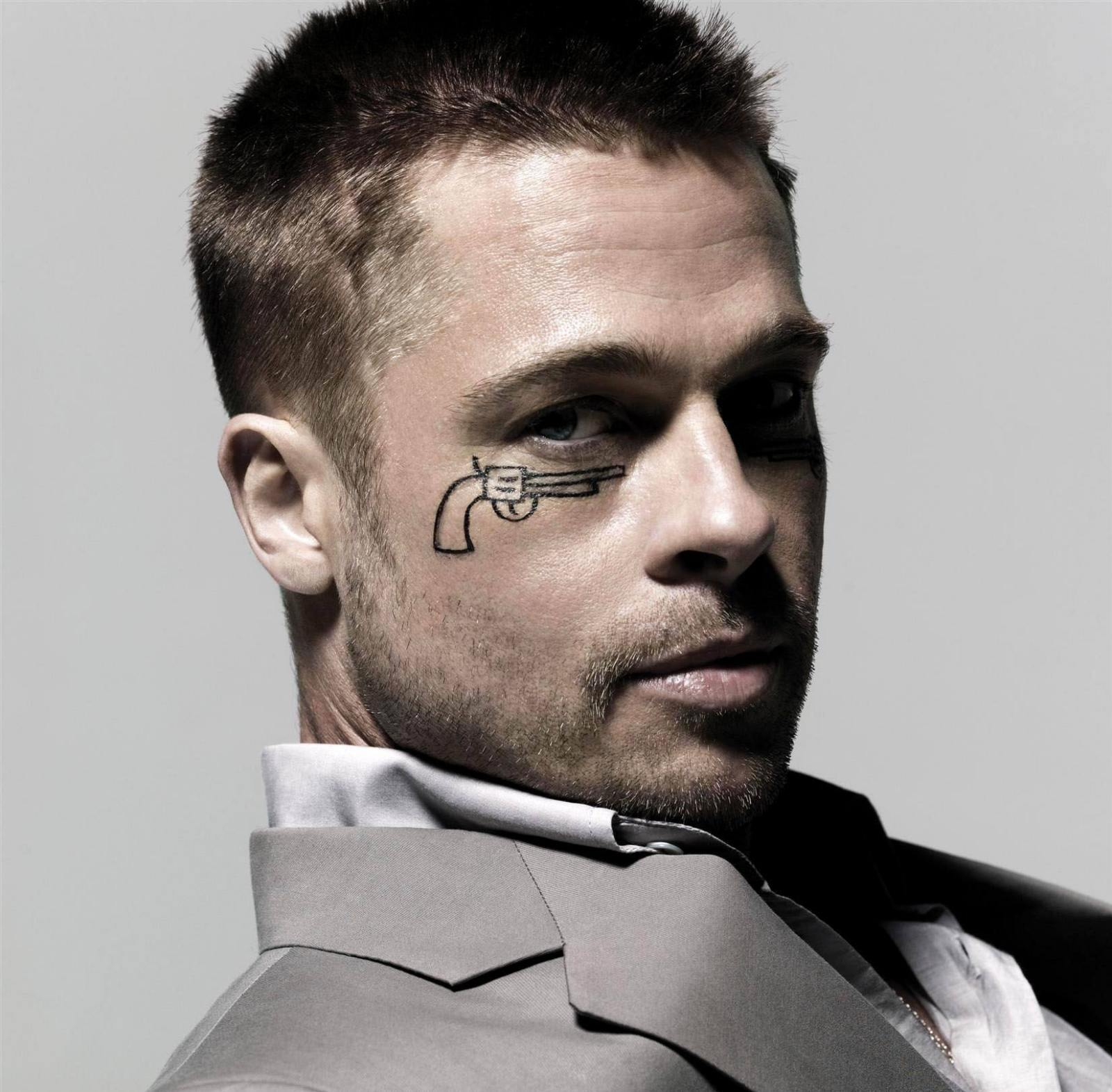 brad pitt fight club buzz cut - photo #7