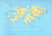 . Reino Unido. Recientemente, recrudecieron las tensiones diplomáticas, . mapa islas malvinas big