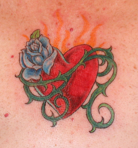 A lot of people are familiar with heart tattoos. But, not too many people