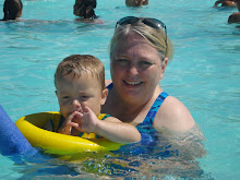 Landon and Grandma in the Pool