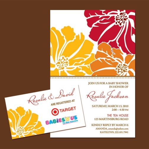 sohl design baby shower invitation design