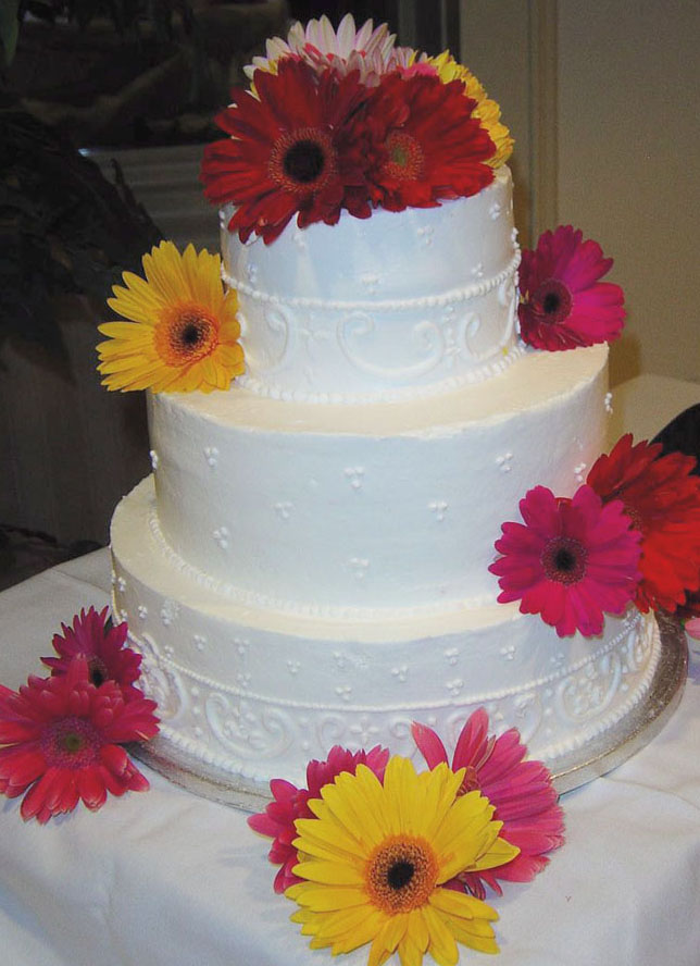 This is what our actual wedding cake looked like I loved the simplicity of