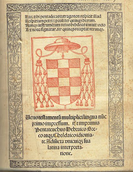 Biblia políglota complutense del Cardenal Cisneros