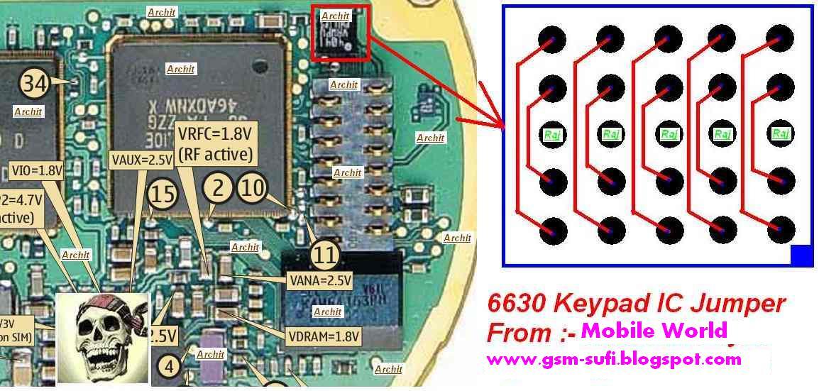 Nokia 3110C Keypad Ic Jumper