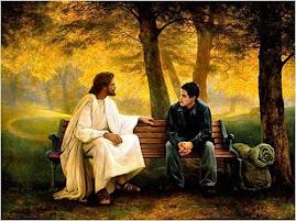 Iisus de vorba cu un om