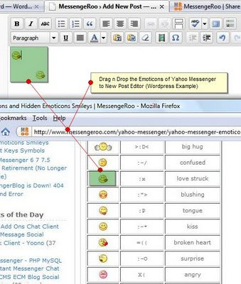 DownloadNews | Add Insert Yahoo Messenger Emoticons Smileys on Blog (Wordpress, Blogspot, etc)