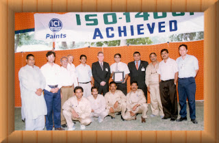 As A Team Member Receiving ISO 14001 Certificate From Moody International At ICI Pakistan Ltd