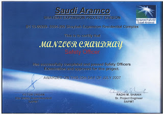Awarded From Saudi Aramco Shaybah PMT On Successfully Completion Written Test
