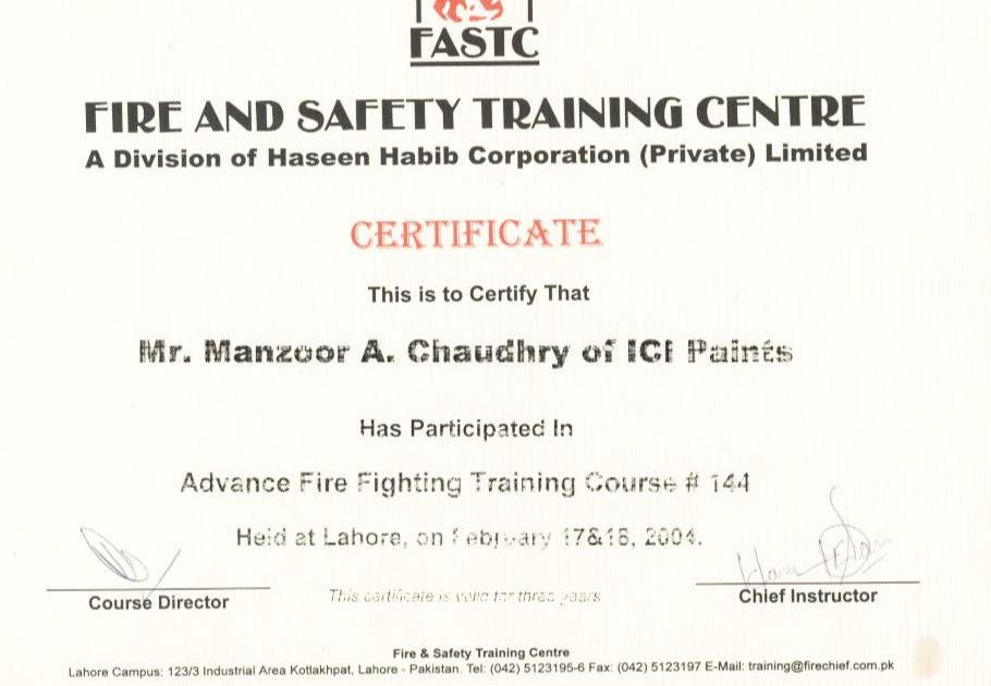 Fire Training Certificate Template Mandegarfo