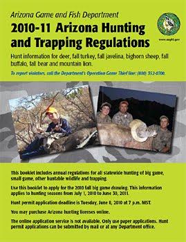 The socal bowhunter may 2010 for Arizona fishing regulations