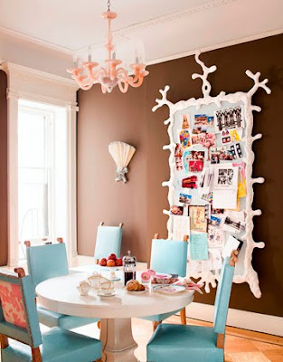 Beach house decor beach house dining room inspiration for Dining area wall design