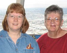 photo of Carol and me at the top of the Stratosphere in Vegas