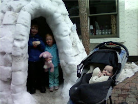 Jared, Riley and Tyler Enjoy Their Igloo