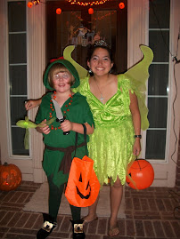 Peter Pan and Tinkerbell Ready to Trick or Treat