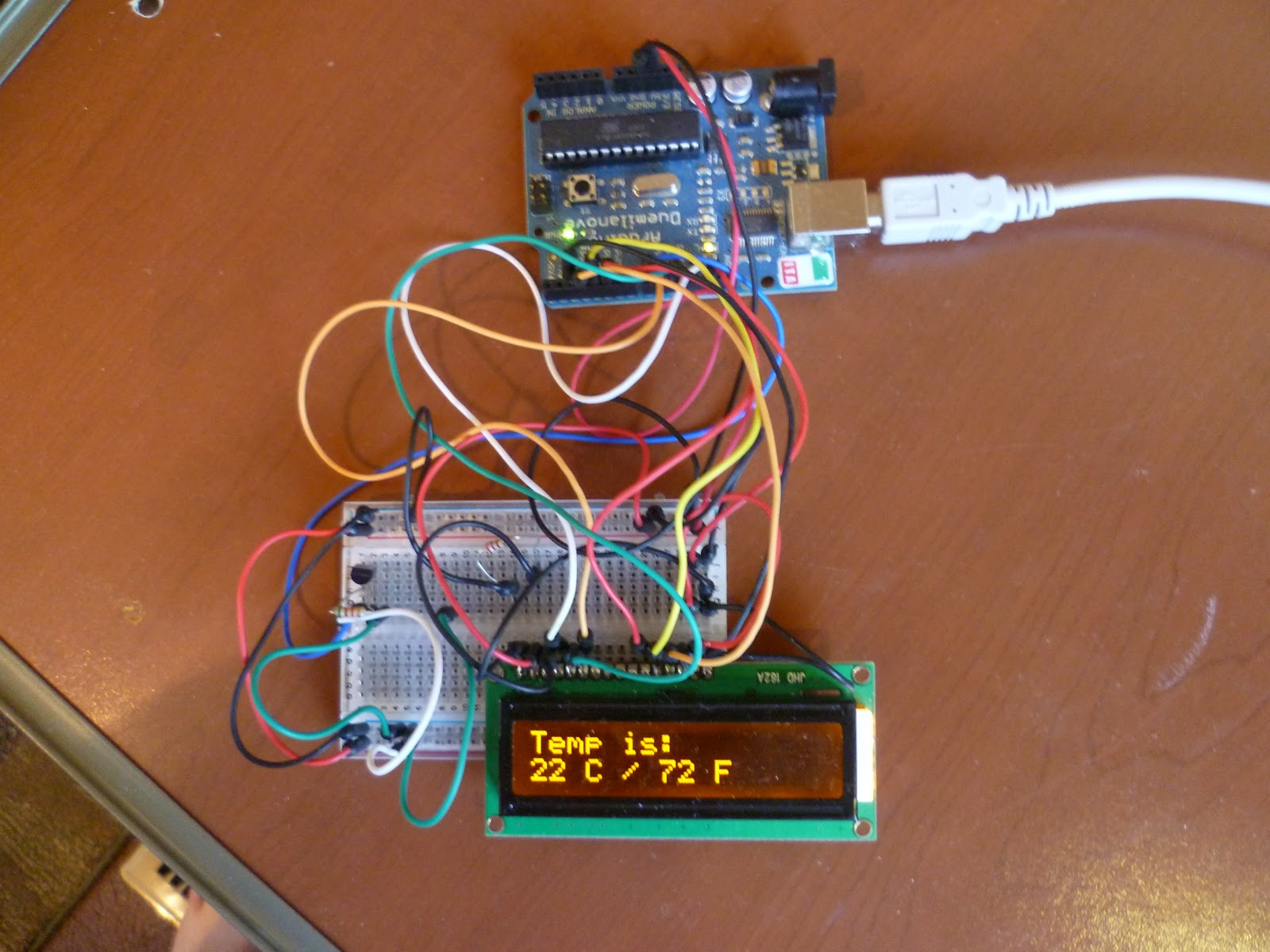 Arduino Your Home Environment The Ds18b20 Digital Thermometer Electronic Circuit