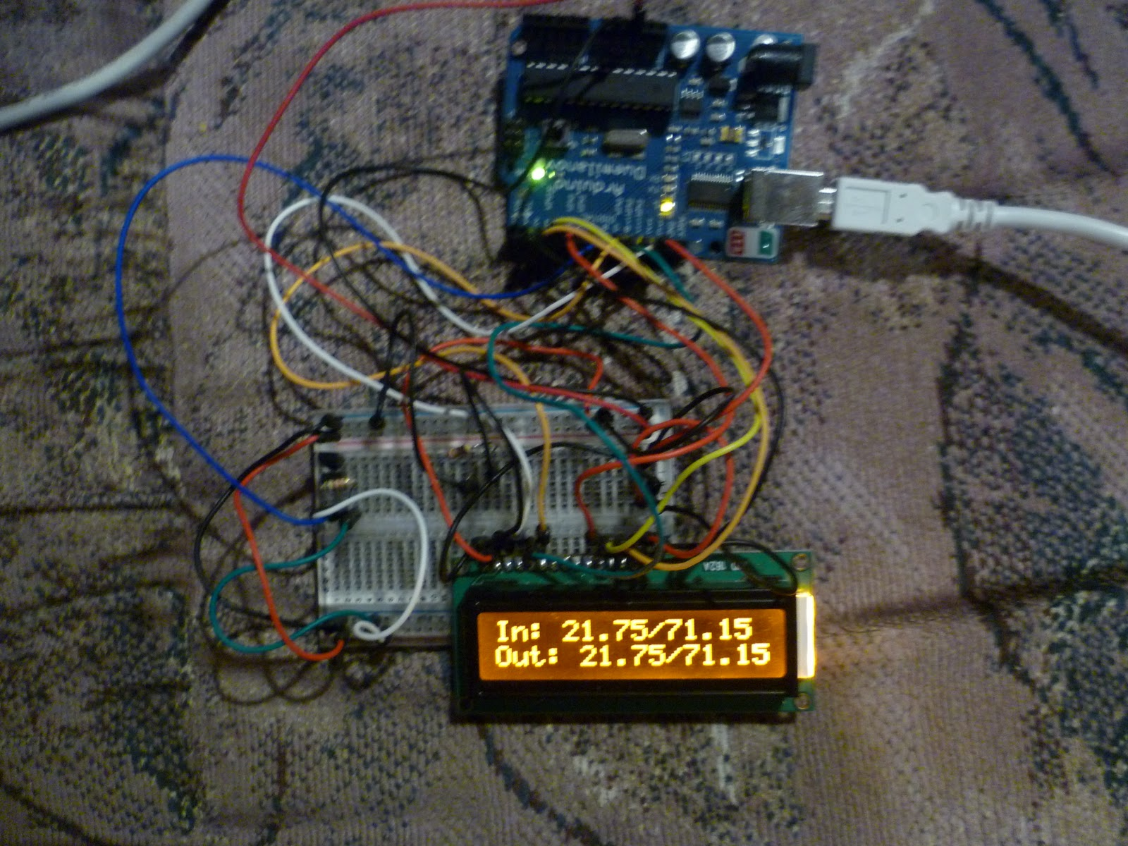 Arduino Your Home Environment Two Ds18b20 Temp Sensors On Lcd. We Are Finally Posting Our Multi Ds18b20 Temp Sensor Lcd Project Right Now Monitoring Two Sensors On One Data Pin But Could Add Many Such. Wiring. One Wire Wiring Temp Probe At Scoala.co