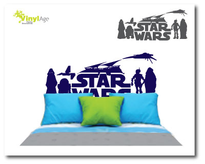 Vinilos decorativos infantiles florales y de adultos for Decoracion de cuarto star wars