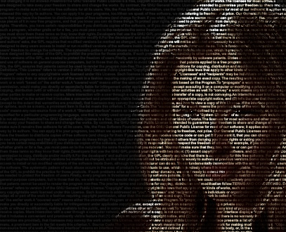 Pictures made out of text