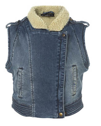 Isobella's Closet Petite TopShop Denim Biker Vest is cute