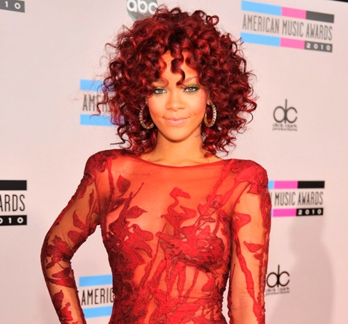 rihanna red hair dye. girlfriend Rihanna red hair